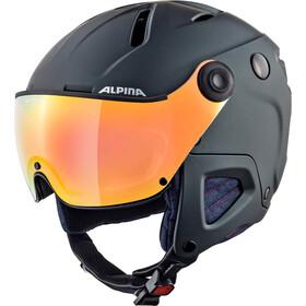 Alpina Attelas Visor QVM Ski Helmet denim-grey matt